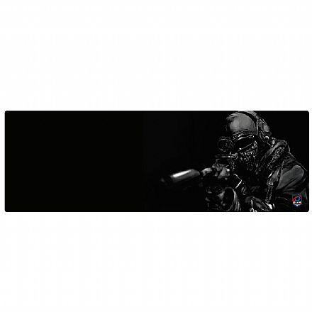 Mousepad Bits Gamer Soldado Ghost - Extendido: 900 x 300mm