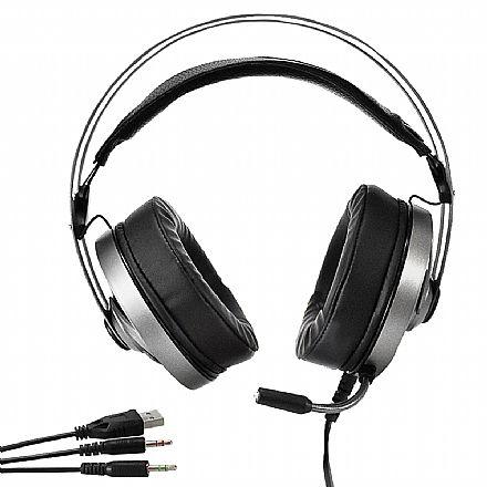 Headset Gamer Evus F-05 Colors - RGB - com Microfone - Conector P2 e USB