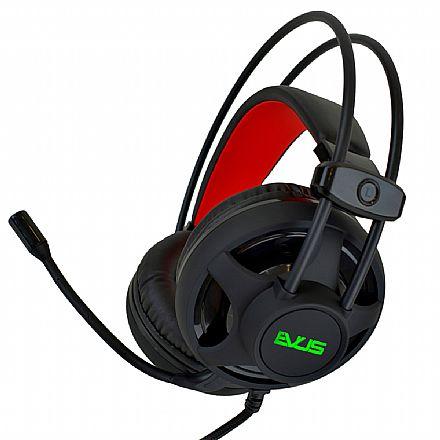 Headset Gamer Evus F-11 Revolution - RGB - com Microfone - Conector P2 e USB