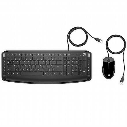 Kit Teclado e Mouse USB HP Pavilion 200 - 1600dpi - ABNT2 - 9DF28AA#AC4