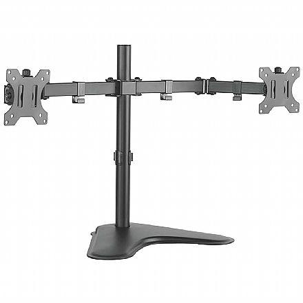 """Suporte para 2 Monitores / TVs até 32"""" - Articulado de Mesa com Regulagem de Altura - ELG T1224N"""