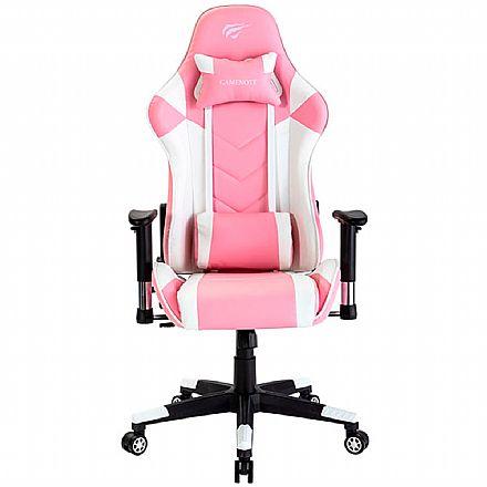 Cadeira Gamer Havit GC932 - Rosa e Branca