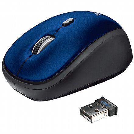 Mouse sem Fio Trust Yvi - 1600dpi - Azul - T19663