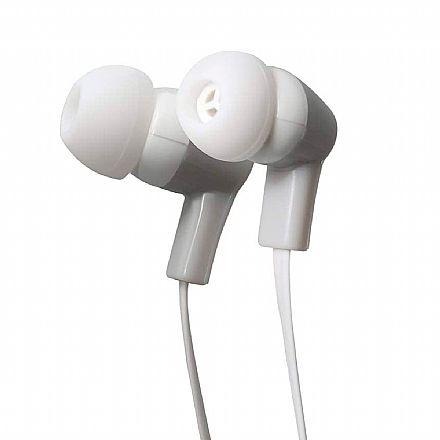Fone de Ouvido Intra-auricular ELG STR08WHGY - com Microfone - Branco