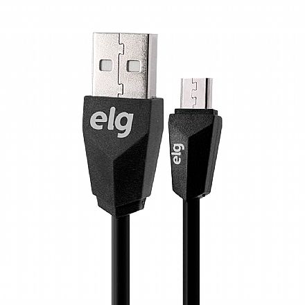 Cabo Micro USB para USB - 1 metro - ELG M510