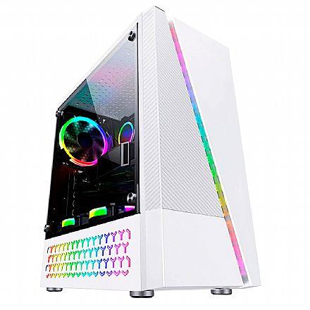 Gabinete Gamer Bluecase BG-018W - Lateral Transparente - Frontal RGB - USB 3.0