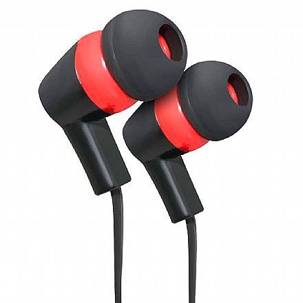 Fone de Ouvido Intra-Auricular ELG Fashion Series STR08BKRD - com Microfone