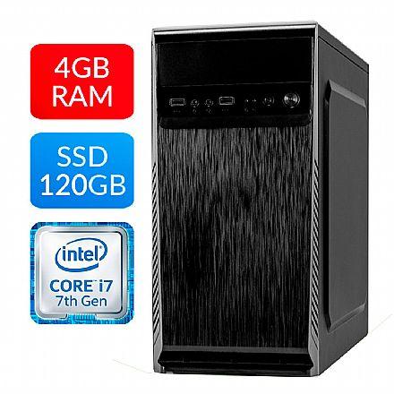 Computador Bits WorkHard - Intel i3 7100, 4GB, SSD 120GB, FreeDos - 1 Ano de garantia