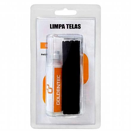 Spray Limpa Tela Goldentec - 20ml - Com Flanela - Para Limpeza de Notebook, TVs e Monitores