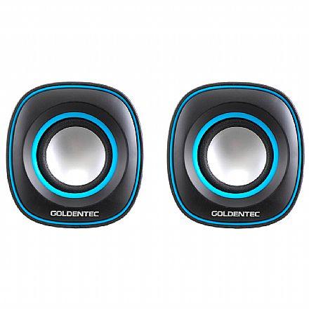 Caixa de Som Goldentec GT Sound 2.0 - 6W RMS - Alimentação USB - 26365