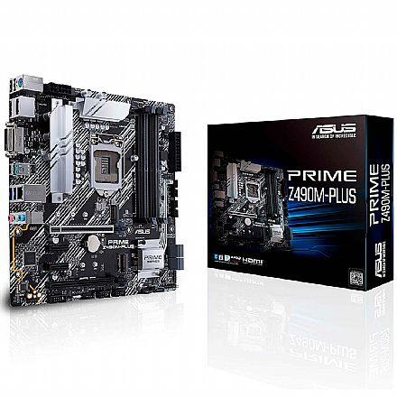 Asus Prime Z490M-Plus (LGA 1200 DDR4 4400 OC) - Chipset Intel Z490 - Slot M.2 - USB 3.2 - Micro ATX