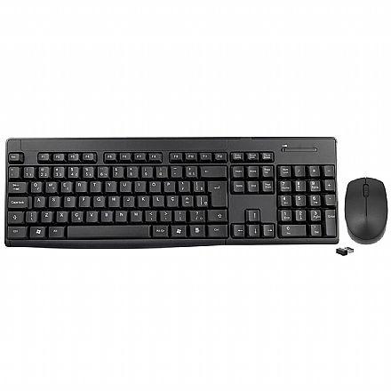 Kit Teclado e Mouse sem Fio K-Mex KA-S329 + MA-A733 - ABNT2 - 1200dpi