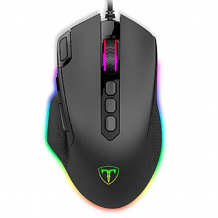 Mouse Gamer T-Dagger Bettle - 8000dpi - RGB - 10 Botões Programáveis - T-TGM305