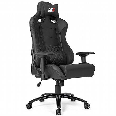 Cadeira Gamer DT3 Sports Ravena - Encosto Reclinável - Construção em Aço - Preta Suede 11586-1