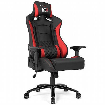 Cadeira Gamer DT3 Sports Ravena - Encosto Reclinável - Construção em Aço - Vermelha 11541-2