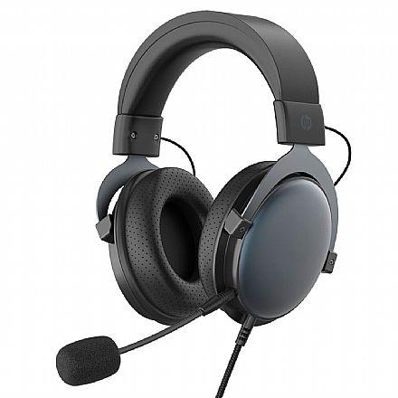 Headset Gamer HP DHE-8005 - controle de Volume e Microfone - Conector P2 - 9NG18AA