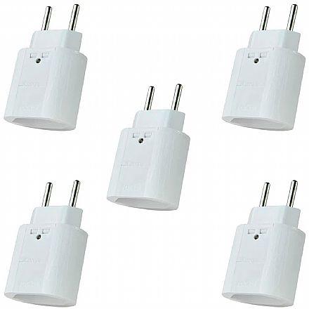 Kit Protetor Contra Raios Clamper iClamper Pocket 2P - DPS - Branco – 10192 - 5 unidades