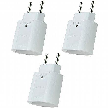 Kit Protetor Contra Raios Clamper iClamper Pocket 2P - DPS - Branco – 10192 - 3 unidades