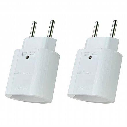 Kit Protetor Contra Raios Clamper iClamper Pocket 2P - DPS - Branco – 10192 - 2 unidades