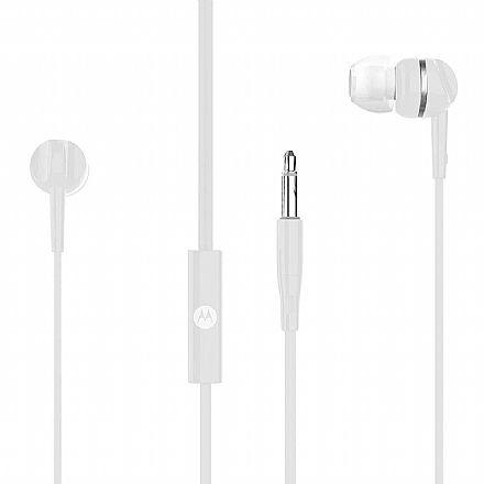 Fone de Ouvido Intra-Auricular Motorola Pace 105 - com Microfone - Conector P2 - Branco - PACE105WH