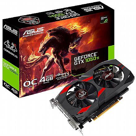 GeForce GTX 1050 Ti 4GB GDDR5 - Cerberus OC - Asus CERBERUS-GTX1050TI-O4G