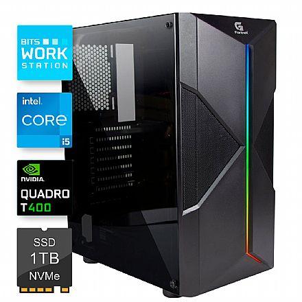 Computador WorkStation Bits 2021 - Intel i5 10400F, 8GB, SSD 240GB, Nvidia Quadro P400