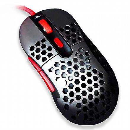 Mouse Gamer Motospeed Darmoshark N1 3389 - 16000dpi - RGB - 6 Botões Programáveis - FMSMS0095PTO