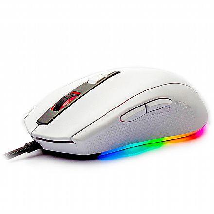 Mouse Gamer Motospeed V60 - 10000dpi - RGB - 7 Botões - Branco - FMSMS0006BRO