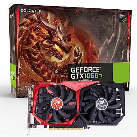 GeForce GTX 1050 Ti 4GB GDDR5 128bits - Coloful G-C1050Ti 4G-V