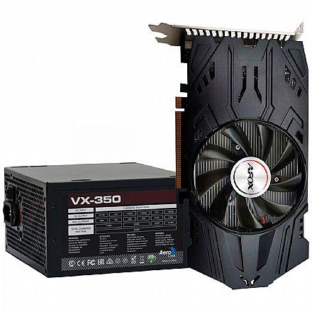 Kit Upgrade AMD Radeon RX 560D 4GB GDDR5 128bits + Fonte 350W AeroCool VX-350 - 59763
