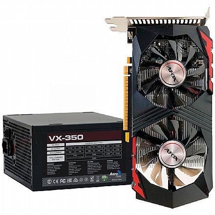 Kit Upgrade Nvidia GeForce GTX 750 Ti 2GB GDDR5 128bits + Fonte 350W AeroCool VX-350 - 59763
