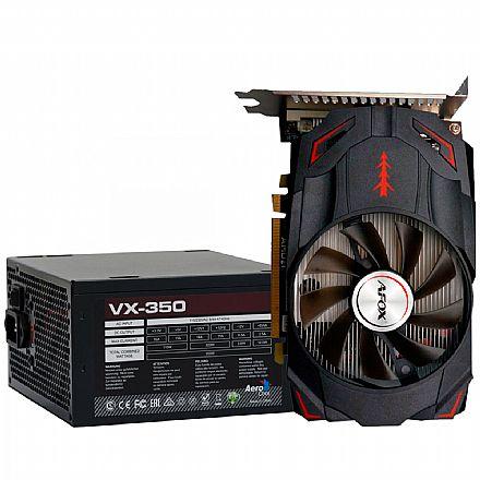 Kit Upgrade AMD Radeon RX 550 4GB GDDR5 128bits + Fonte 350W AeroCool VX-350 - 59763