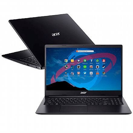"Notebook Acer Aspire A315-34-C6ZS - Tela 15.6"", Intel Celeron N4000, 4GB, HD 1TB, Linux"