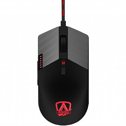 Mouse Gamer AOC Agon - 16000dpi - 8 Botões Programáveis - RGB - AGM700DRCB