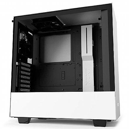 Gabinete NZXT H510i-W1 - Lateral em Vidro Temperado - USB-C - USB 3.1 - Branco