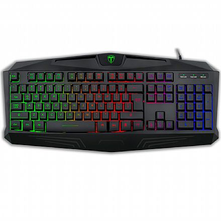 Teclado Gamer T-Dagger Tanker Rainbow - ABNT2 - RGB - T-TGK106