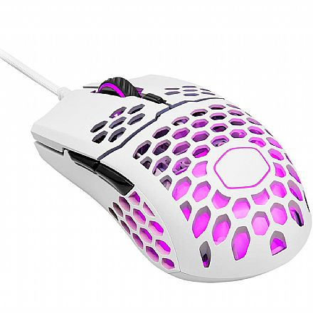 Mouse Gamer Cooler Master MM711 - 16000dpi - 6 Botões - RGB - Branco Fosco - MM-711-WWOL1