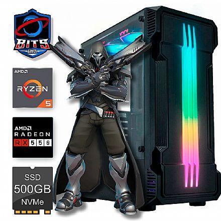 PC Gamer Bits 2021 - Ryzen 5, 8GB, SSD 240GB, Video Radeon RX 550 - Powered by Asus