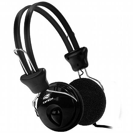 Fone de Ouvido C3 Tech Tricerix PH-80BK - Microfone e Controle de Volume - Conector P2