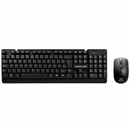 Kit Teclado e Mouse sem Fio C3 Tech K-W11BK - ABNT2 - 1000dpi