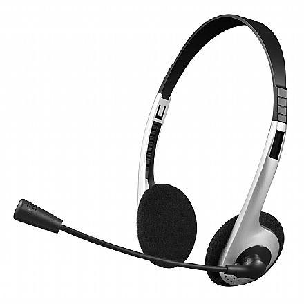 Fone de Ouvido C3 Tech PH-01SI - Microfone e Controle de Volume - Conector P2 - Prata