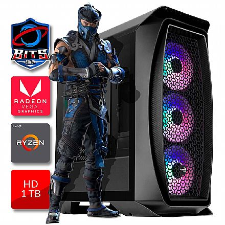 PC Gamer Starter Bits - AMD A10 9700, RAM 8GB, HD 1 TB, Radeon Vega R7 - Powered by Asus