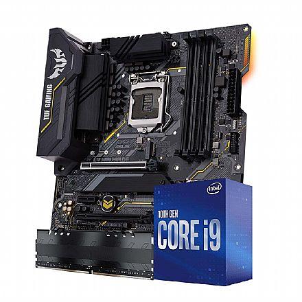 Kit Upgrade Intel® Core™ i9 10850K + Asus TUF B460M PLUS GAMING/BR + Memória 8GB DDR4