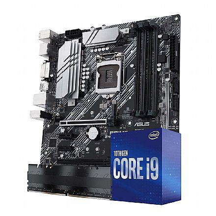 Kit Upgrade Intel® Core™ i9 10850K + Asus Prime Z490M-Plus + Memória 8GB DDR4
