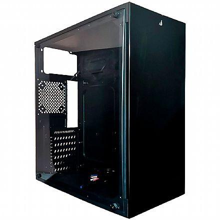 Gabinete Gamer Rise Mode Glass 07 - Lateral e Frontal em Vidro Temperado - USB 3.0 - RM-CA-07-FB G07