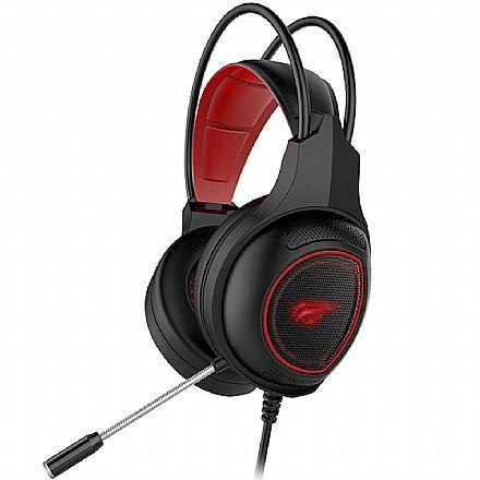 Headset Gamer Havit HV-H2239D - Microfone - LED - Conector P2 e USB para iluminação