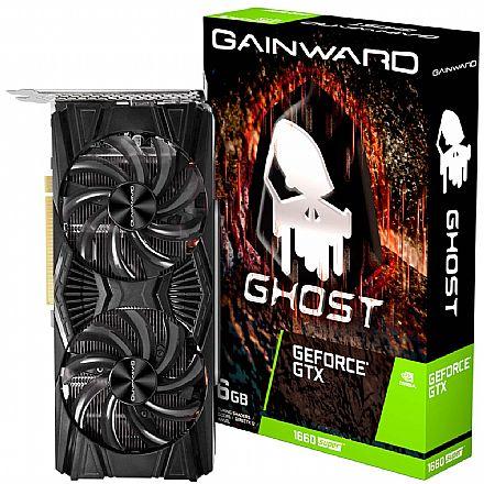 GeForce GTX 1660 Super 6GB GDDR6 192bits - Ghost Series - Gainward NE6166S018J9-1160X-1