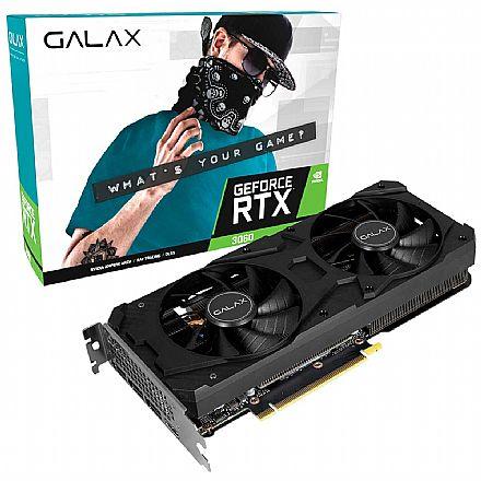 GeForce RTX 3060 12GB GDDR6 192bits - OC - GALAX 36NOL7MD1VOC - Selo LHR