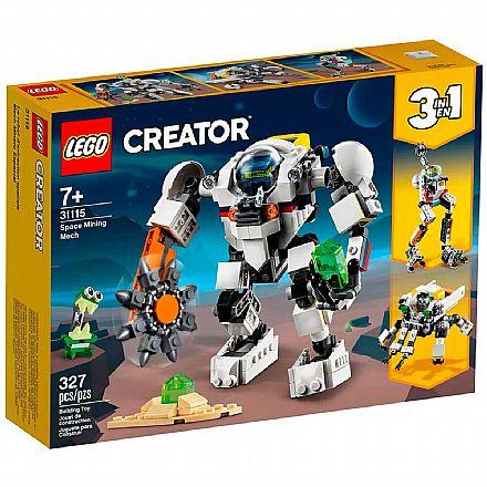 LEGO Creator 3 Em 1 - Robô de Mineração Espacia - 31115