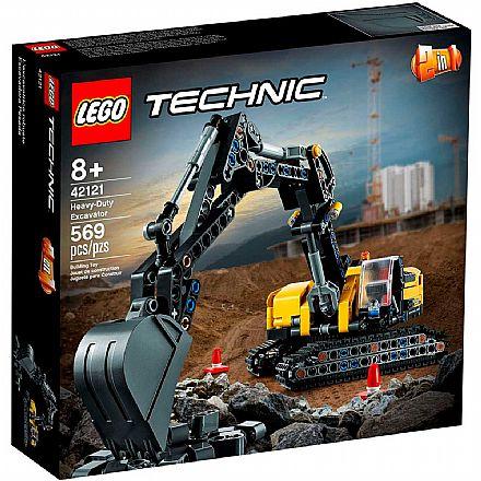 LEGO Technic 2 em 1 - Escavadeira para Trabalhos Pesados - 42121